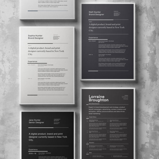 bold resume template collection